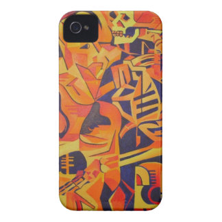 Trick or Treat Skeleton Greeting Card iPhone 4 Case-Mate Case