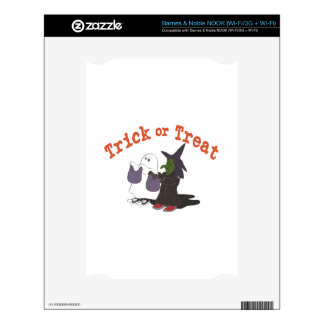 Trick Or Treat Decal For NOOK
