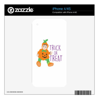 Trick Or Treat Skins For iPhone 4S
