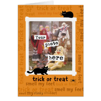 trick or treat smell my feet, Customizable Card