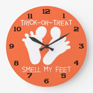 Trick or Treat Smell My Feet Large Clock
