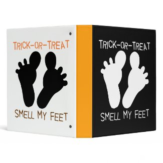 Trick or Treat Smell My Feet Notebook binder