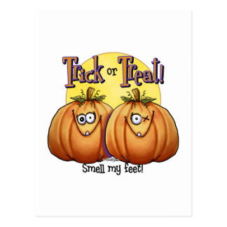 Trick or treat Smell my Feet Post Card