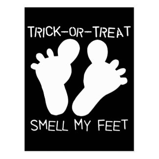 Trick-or-Treat Smell my Feet Postcard