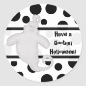 Trick or Treat Smiling Ghost Stickers sticker