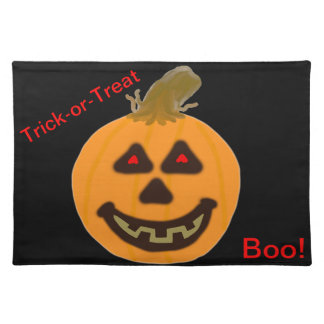 Trick-or-Treat Smiling Pumpkin Place Mat