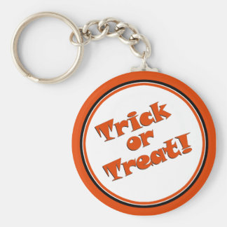 TRICK OR TREAT Snappy Halloween Text Image Key Chains