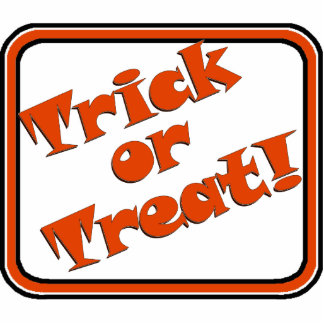 TRICK OR TREAT Snappy Halloween Text Image Acrylic Cut Out