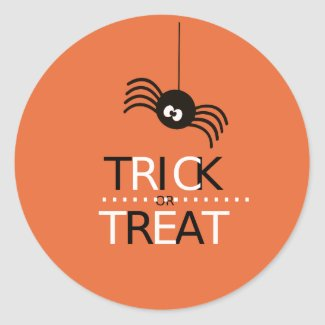 Trick or Treat Spider Classic Round Sticker
