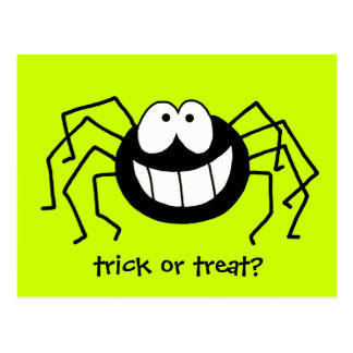 Trick or Treat Spider Post Cards