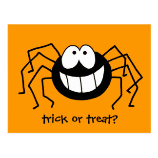 Trick or Treat Spider Postcard