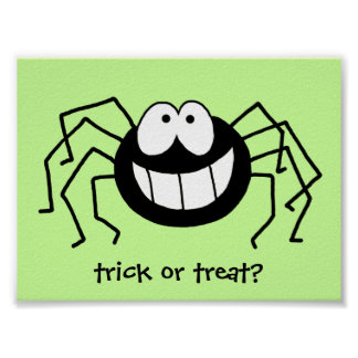 Trick or Treat Spider! Poster