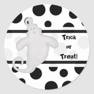 Trick or Treat Spooky Ghost  Stickers
