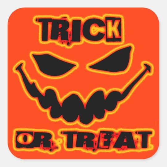 Trick or Treat Square Sticker