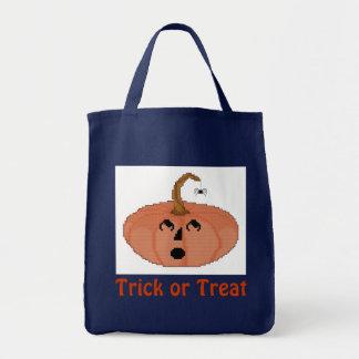 Trick or Treat Startled Pumpkin Halloween Bag