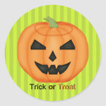 Trick or Treat Stickers for Halloween