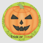 Trick or Treat Stickers in Acid Green