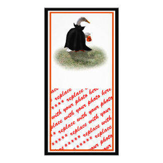 Trick or Treat Time for Count Duckula! Customized Photo Card