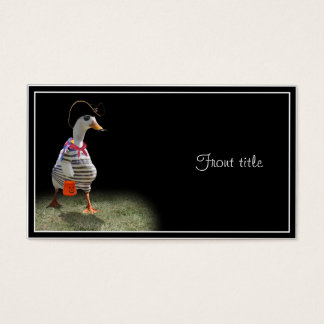 Trick or Treat Time for Pirate Duck Business Card