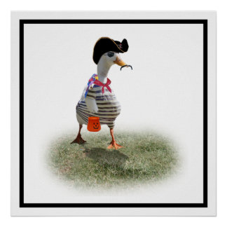 Trick or Treat Time for Pirate Duck Print