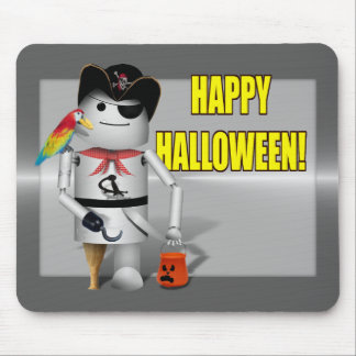 Trick or Treat Time for Robo-x9 Mousepads
