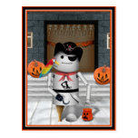 Trick or Treat Time for Robo-x9 Postcard