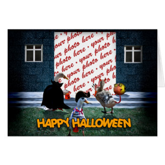 Trick or Treat Time for these Little Ducks Card