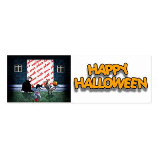 Trick or Treat Time for these Little Ducks Double-Sided Mini Business Cards (Pack Of 20)