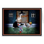 Trick or Treat Time for these Little Ducks Greeting Card