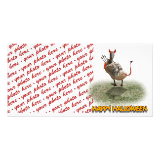 Trick or Treat Time for these Little Ducks Customized Photo Card