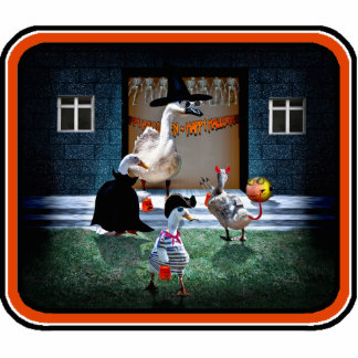 Trick or Treat Time for these Little Ducks Photo Cut Out