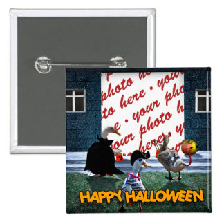 Trick or Treat Time for these Little Ducks Pinback Button