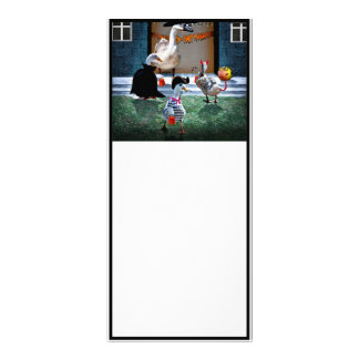 Trick or Treat Time for these Little Ducks Personalized Rack Card