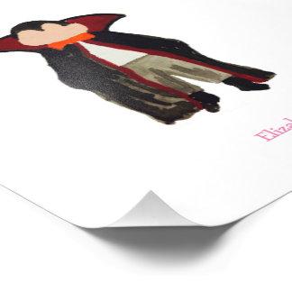 Trick or Treat Toddler Dracula Vampire Custom Name Photo Print