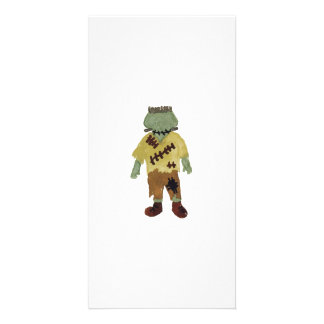 Trick or Treat Toddler Frankenstein Monster Photo Card