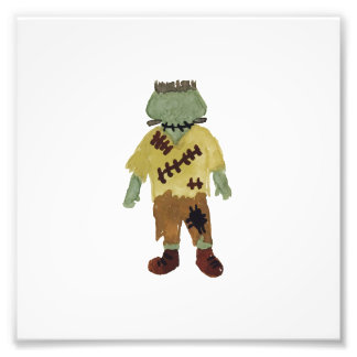 Trick or Treat Toddler Frankenstein Monster Photo Print