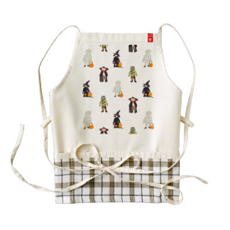 Trick or Treat Toddlers Halloween Monsters Repeat Zazzle HEART Apron