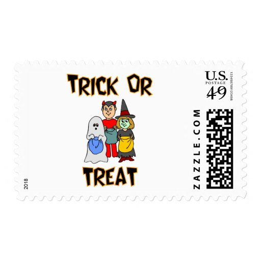 Trick Or Treat (Trick-Or-Treaters) Stamp