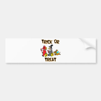 Trick Or Treat Trick-Or-Treaters With Dog Bumper Sticker