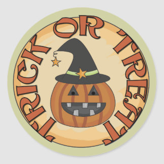 Trick or Treat Tshirts and Gifts Classic Round Sticker