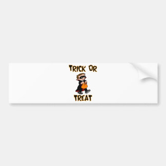 Trick Or Treat Vampire Costume Bumper Sticker