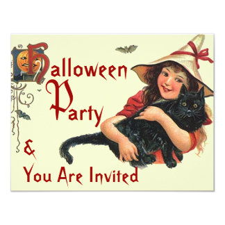 TRICK OR TREAT Vintage HALLOWEEN PARTY INVITATION