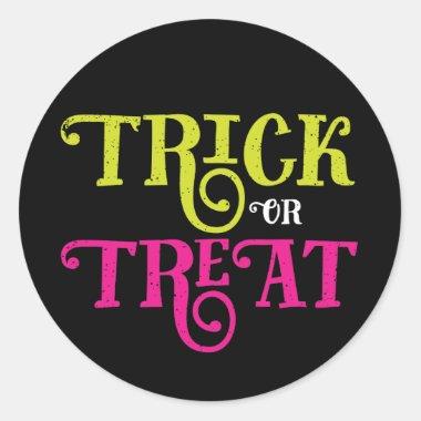 Trick or Treat Vintage Halloween Stickers