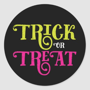 Halloween Themed Trick or Treat Vintage Halloween Stickers