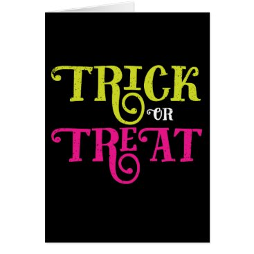 Halloween Themed Trick or Treat Vintage Style Halloween Card
