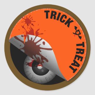Trick or Treat : What's hiding inside? Classic Round Sticker