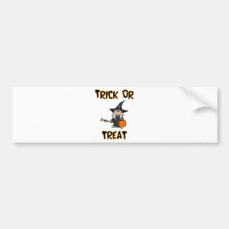Trick Or Treat Witch Costume Bumper Sticker