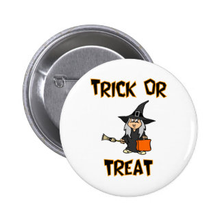 Trick Or Treat (Witch Costume) Button