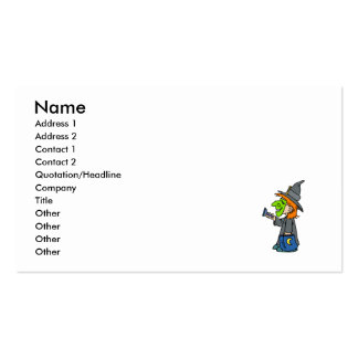 Trick or treat witch Double-Sided standard business cards (Pack of 100)