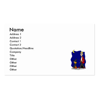 Trick or Treat Witch Girl Double-Sided Standard Business Cards (Pack Of 100)